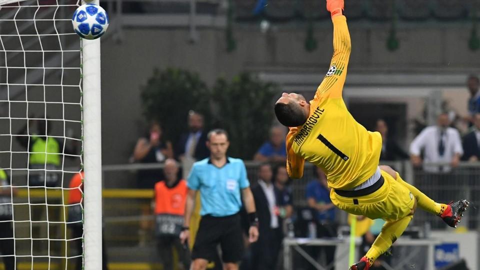 Handanovic non può nulla sul gol di Eriksen ©