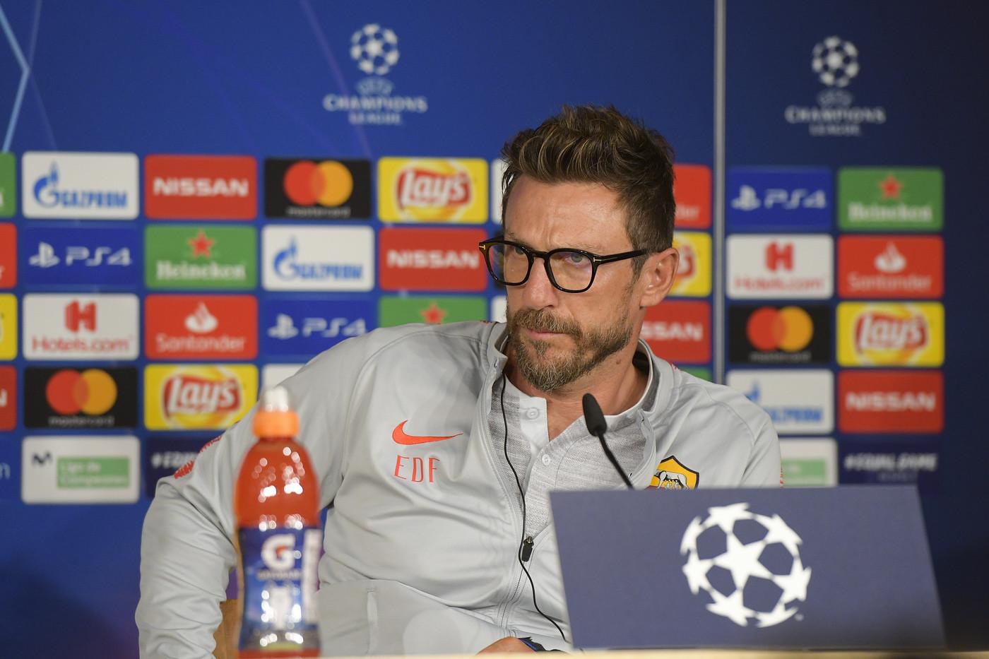 """Roma, Di Francesco chiede una reazione: """"Con Real partita gagliarda"""""""