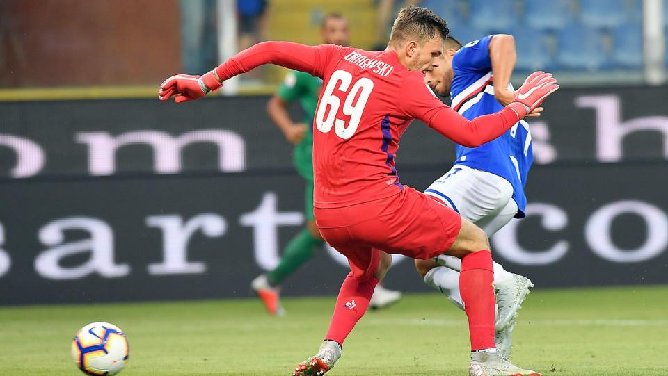 Caprari vicinissimo al gol dopo l'errore di Dragowski ©
