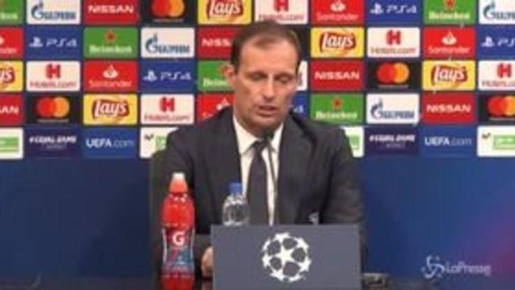 """Champions Valencia-Juve, Allegri: """"Fino a quando c'era da giocare a calcio l'abbiamo fatto bene"""""""