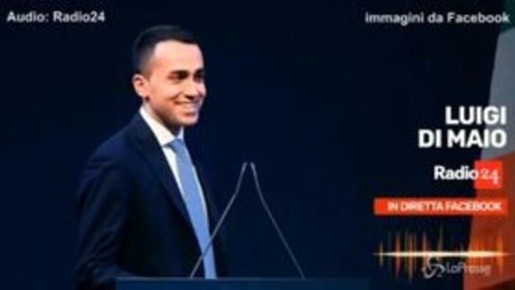 """Di Maio a Radio24: """"L'aumento dell'Iva è una fake news"""""""