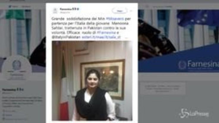 L'ex studentessa di Cesano Maderno rientra dal Pakistan