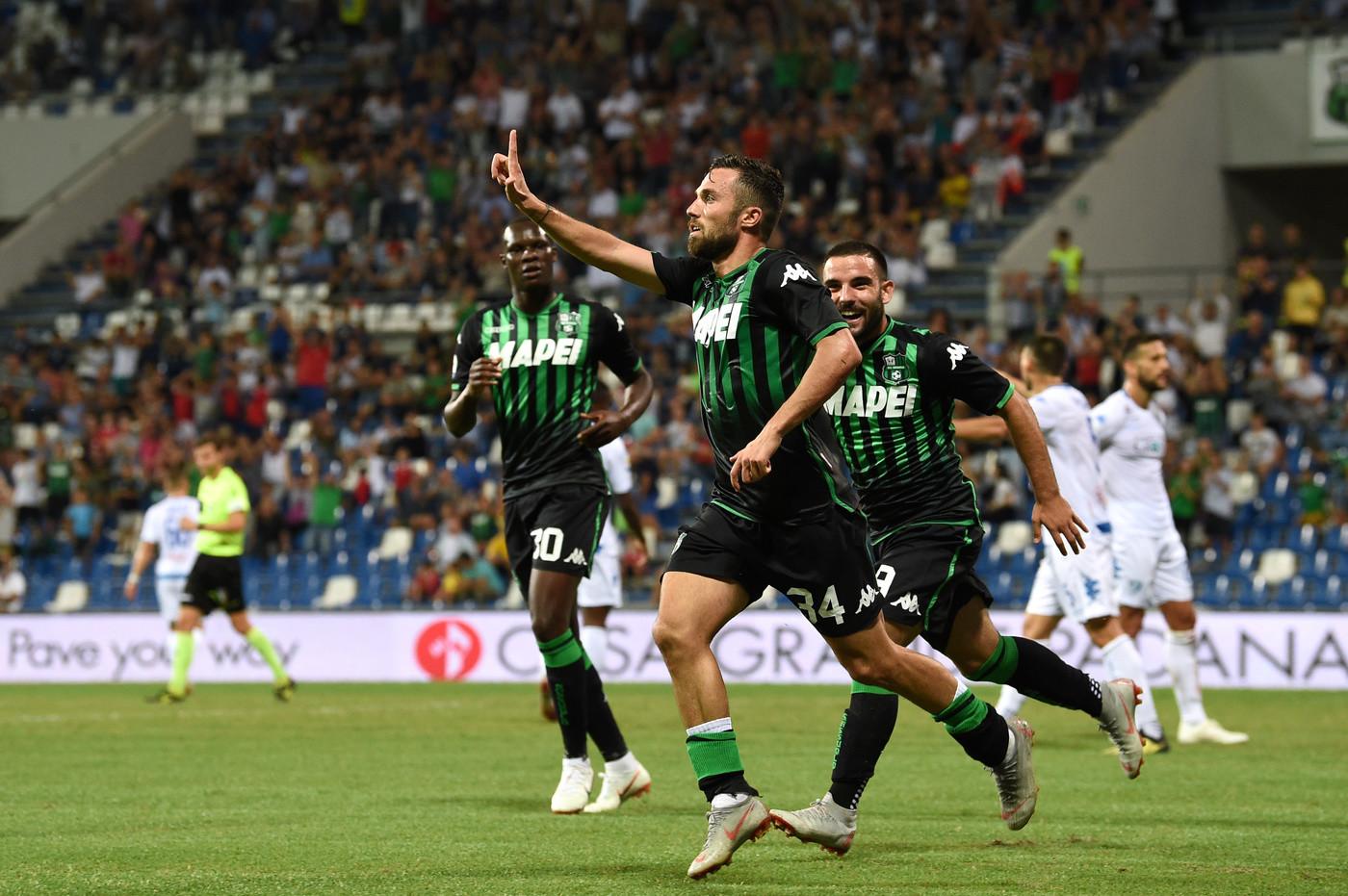 Serie A: Caputo illude Empoli dopo 18″, Sassuolo rimonta, vince ed è secondo