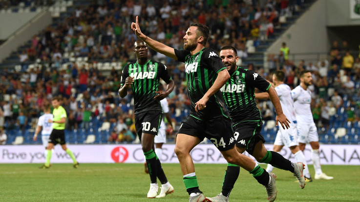 """Serie A: Caputo illude Empoli dopo 18"""", Sassuolo rimonta, vince ed è secondo"""