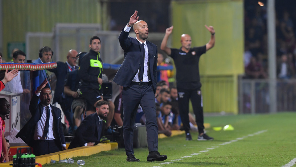 Serie B: Benevento-Salernitana 4-0 - Cristian Bucchi (Benevento) ©