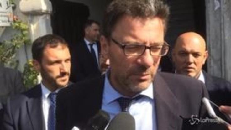 """Manovra, Giorgetti: """"Non si può fare tutto subito"""""""