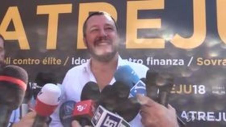 """Salvini: """"Manovra settimana prossima in Parlamento. Europa? Non è quella dei tecnocrati"""""""