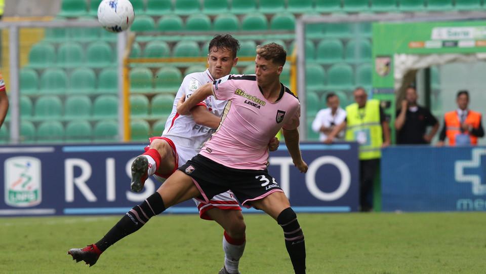 Serie B: Palermo-Perugia 4-1 - Azione di Nicolas Haas (Palermo) ©