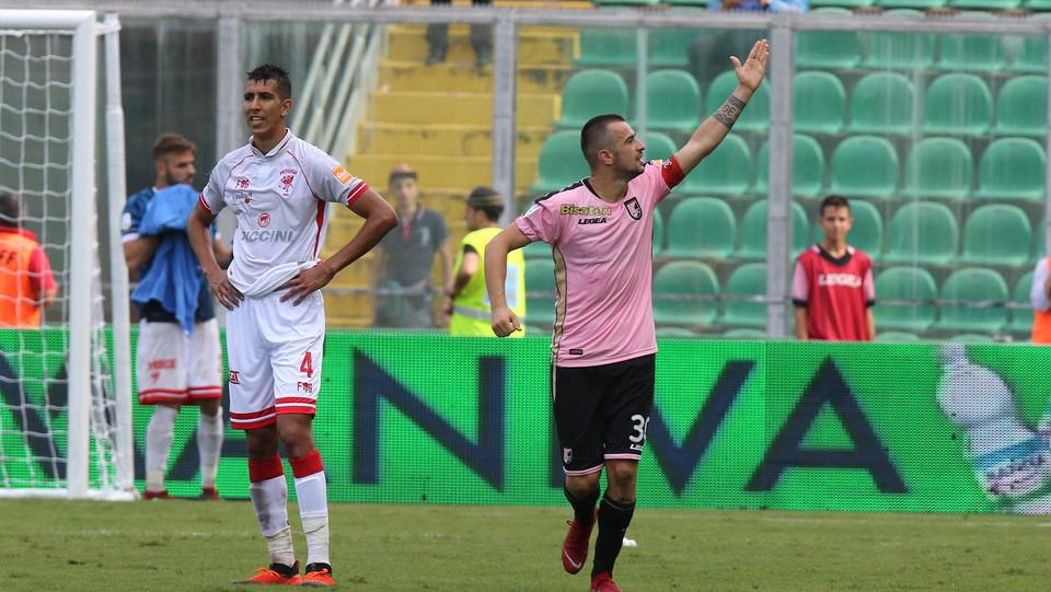 Serie B: Palermo-Perugia 4-1 - Nestirivski esulta per la doppietta ©
