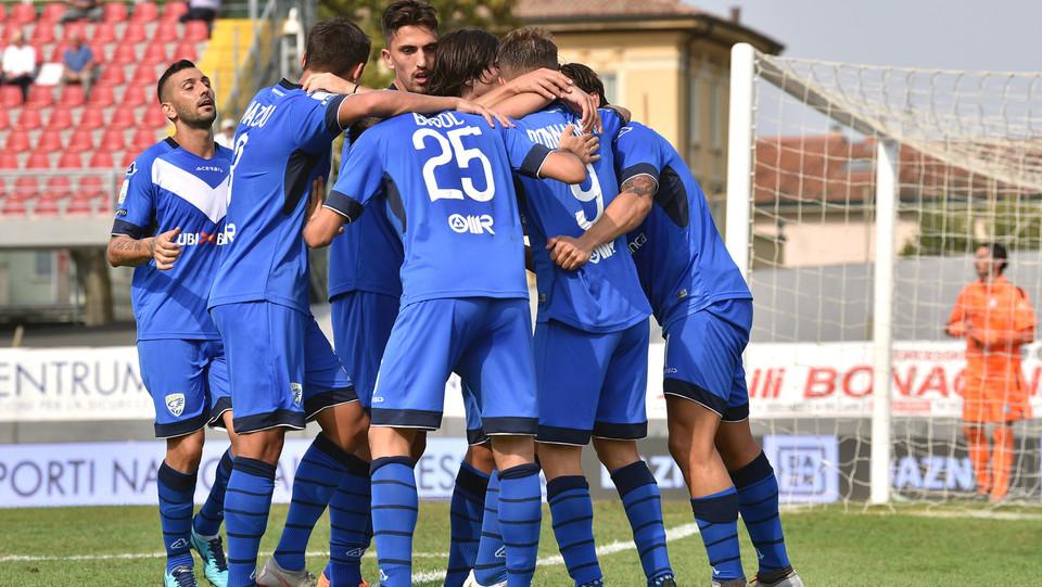 Serie B: Carpi-Brescia 1-1 - il Brescia esulta per il vantaggio ©