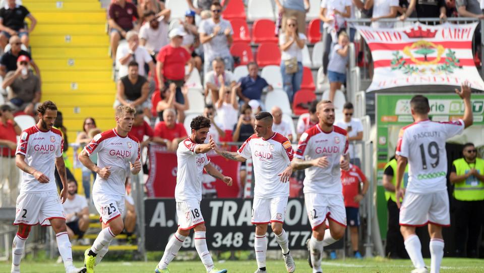 Serie B: Carpi-Brescia 1-1 -Il Carpi esulta dopo il pareggio ©