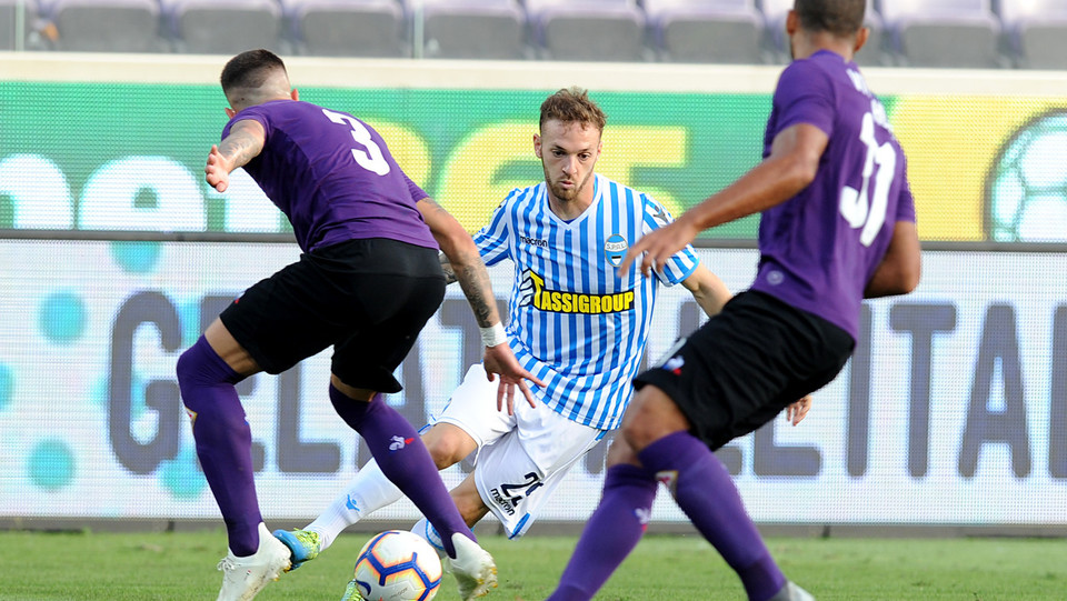 Lazzari (Spal), Biraghi (Fiorentina) e Hugo (Fiorentina) ©