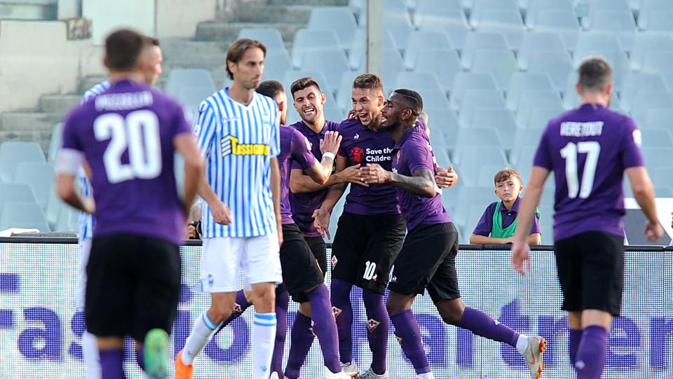 Pjaca porta la Fiorentina in vantaggio ©