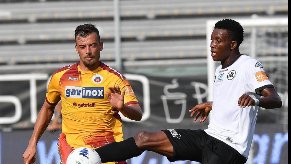 Serie B: Spezia-Cittadella 1-0 - Azione di Okereke (Spezia) ©