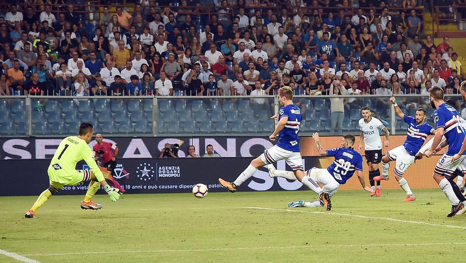 Il gol di Brozovic (Inter) che porta la squadra in vantaggio ©