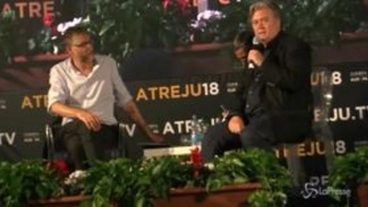 """Steve Bannon ad Atreju: """"Trump non è un uomo che vuole la guerra"""""""
