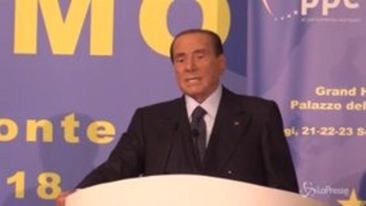 """Berlusconi: """"M5s? Erede della peggiore sinistra del '900"""""""