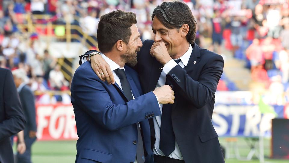 Inzaghi abbraccia Di Francesco ©