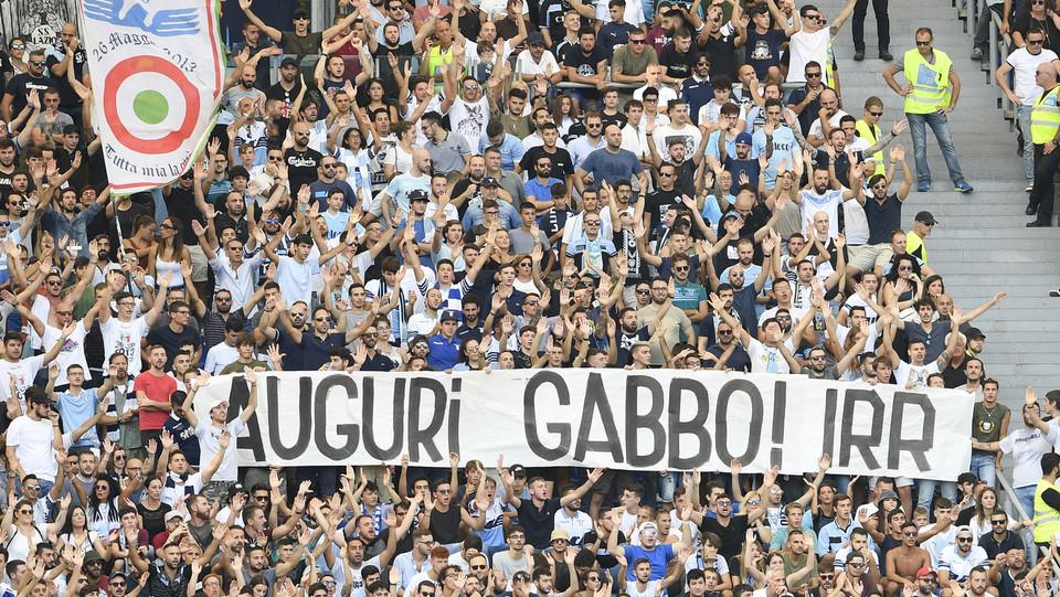 I tifosi della Lazio prima dell'inizio del match ©