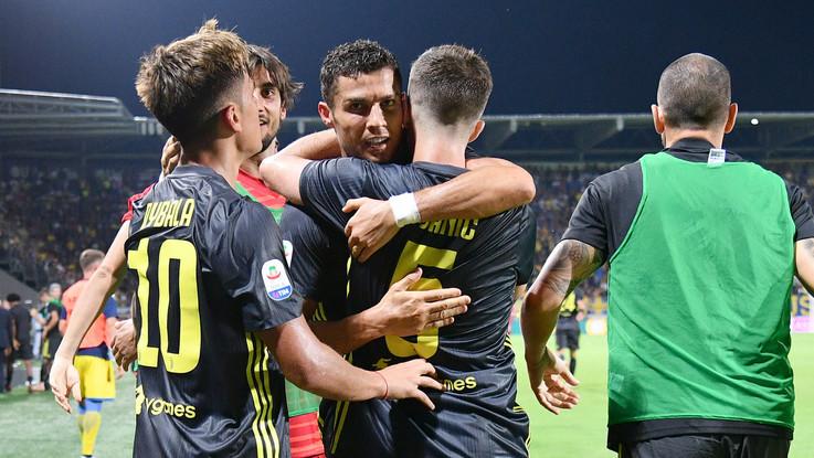 Serie A, ancora Ronaldo e la Juve fa 5 su 5: Frosinone ko nel finale