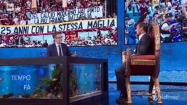 """Totti: """"Il discorso di addio? Volevo che fosse semplice e che raccontasse il mio amore per la Roma"""""""