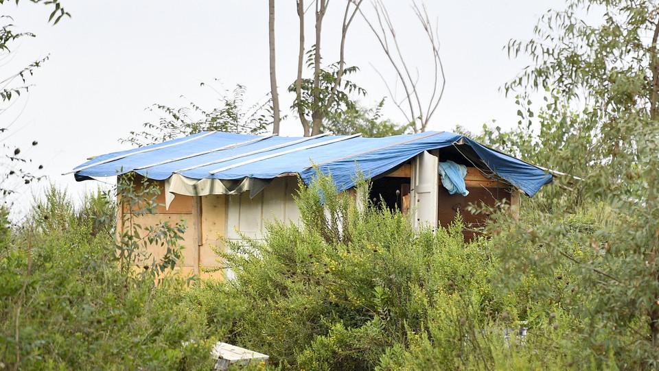 Il campo nomade Casilino 900, sgomberato lunedì mattina ©