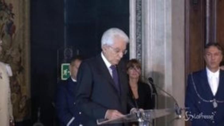 """Mattarella: """"I magistrati rispondono solo alla legge, non ai media"""""""