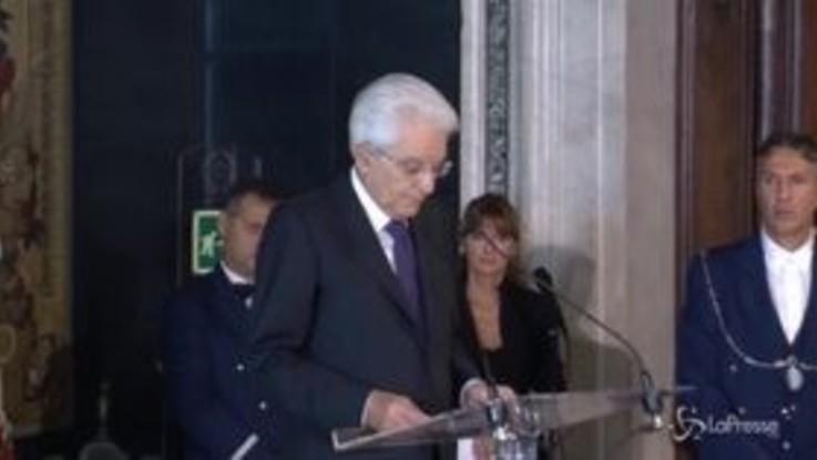 """Mattarella: """"I laici del Csm sono eletti per competenze, non perché rappresentanti di partiti"""""""