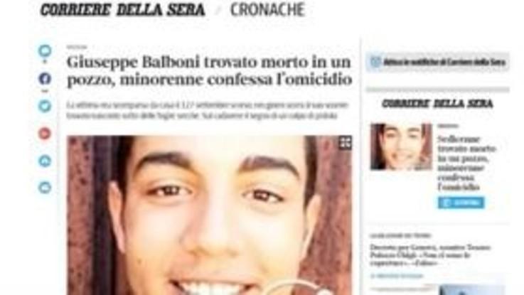 Sedicenne morto nel bolognese, l'amico confessa l'omicidio