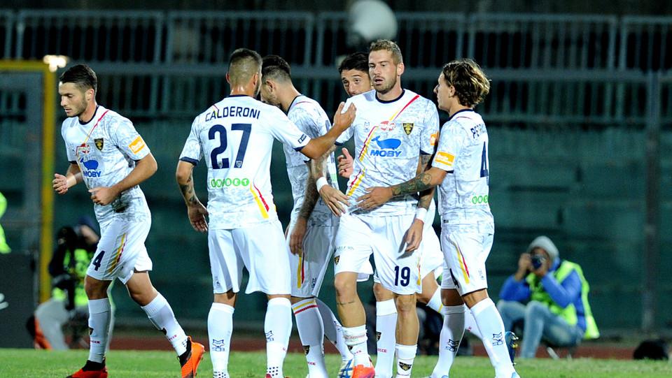 Livorno-Lecce - La Mantia dopo il gol dello 0-1 ©