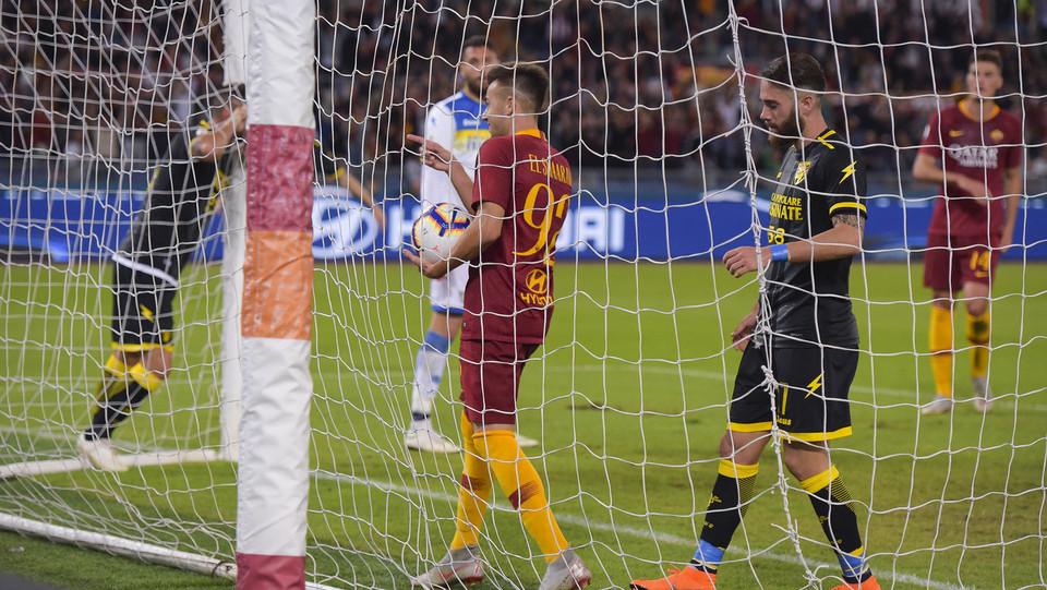 El Shaarawy fa tris a fine primo tempo. Roma dilagante ©