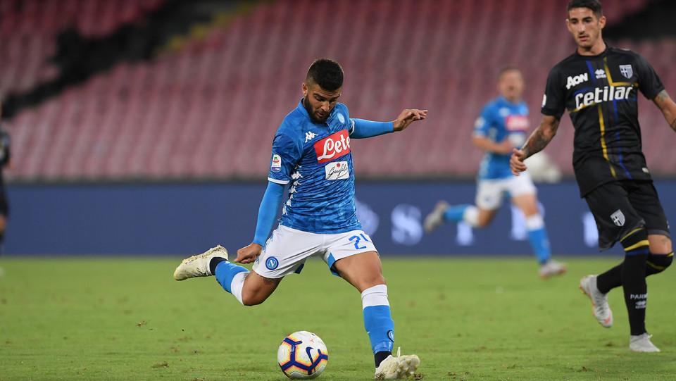 4' Insigne segna appena entrato in campo! Napoli in vantaggio 1-0 ©