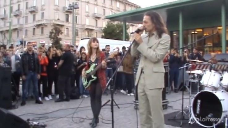 Maneskin show a sorpresa a Milano per il nuovo singolo