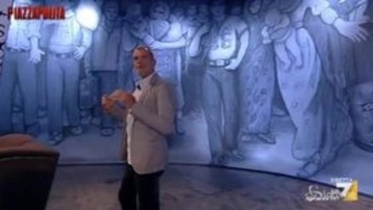 Piazzapulita, Stefano Massini racconta l'incantesimo delle parole