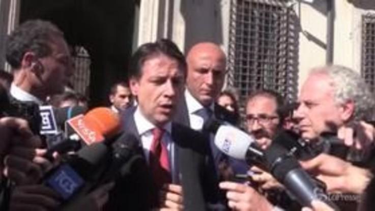 """Manovra, Conte: """"Dimissioni Tria? Appreso da media, l'ho chiamato e nega"""""""