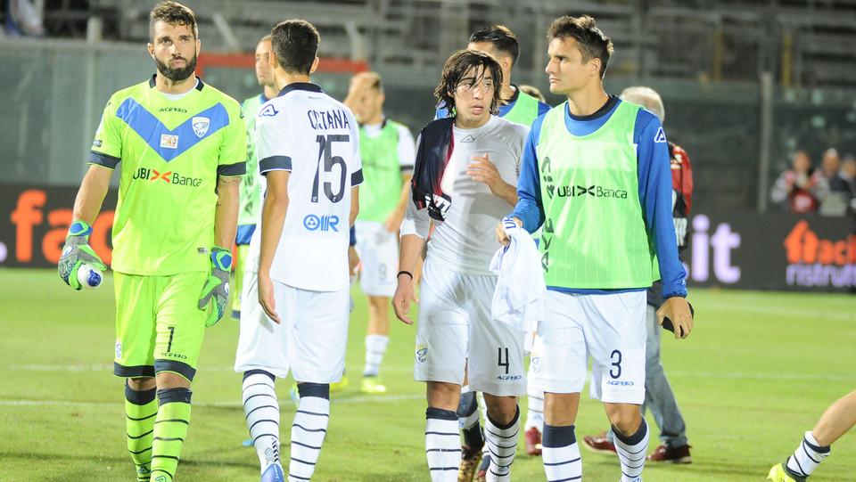 Crotone-Brescia 2-2. Il gol di Dell'Oglio del momentaneo 1-2 ospite ©