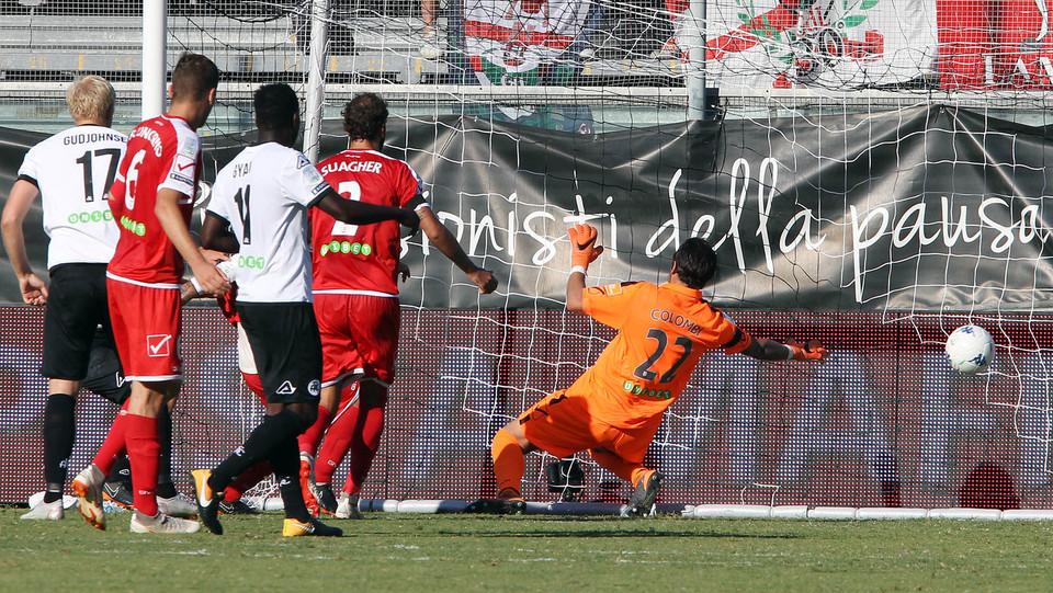 Spezia-Carpi 2-1. Maggiore realizza il definitivo 2-1 per i padroni di casa ©