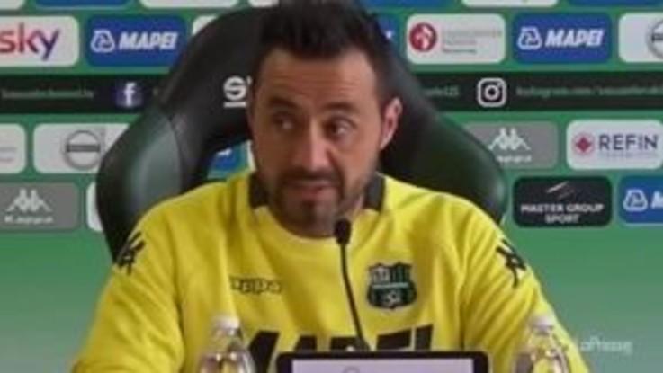 """Sassuolo, De Zerbi: """"Il Milan avrà voglia di rifarsi, giocheremo con coraggio"""""""