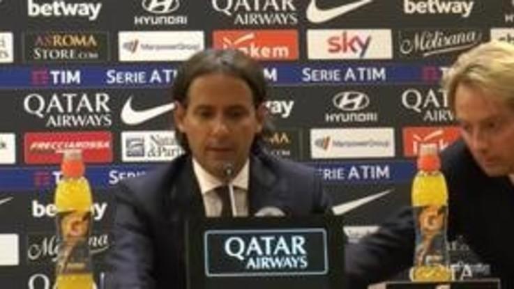 """Lazio, Inzaghi: """"Roma più cattiva di noi, ha meritato di vincere"""""""