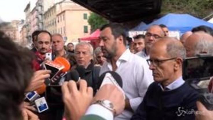 """Genova, Salvini: """"Nessun ripensamento su Gemme, ora l'importante è ricostruire"""""""