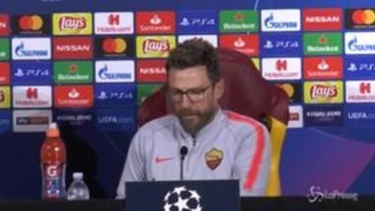 """Champions, Di Francesco: """"Grande vittoria nel derby, ora serve equilibrio e continuità"""""""