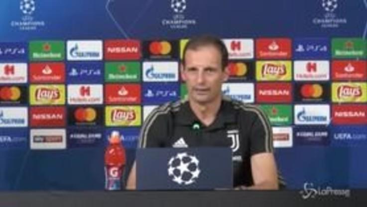 """Champions, Allegri: """"Curioso di vedere la Juve senza Ronaldo"""""""