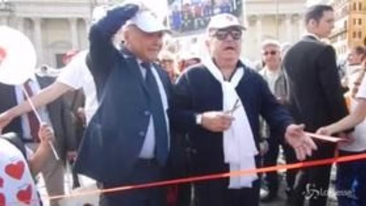 Festa dei nonni, Lino Banfi a Piazza del Popolo