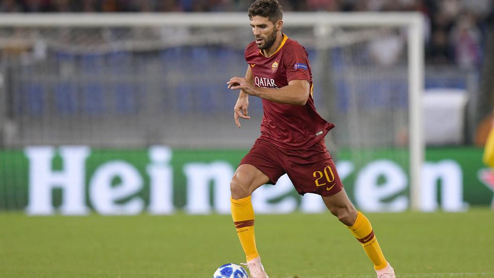 Fazio potrebbe fare 5-0 di testa: ma l'arbitro annulla. Grande Roma all'Olimpico comunque, finisce 4-0 ©