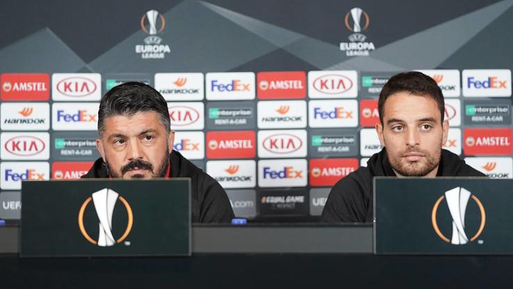 """Europa League, Gattuso: """"Ritorno di Ibra? Chiedete alla società"""""""