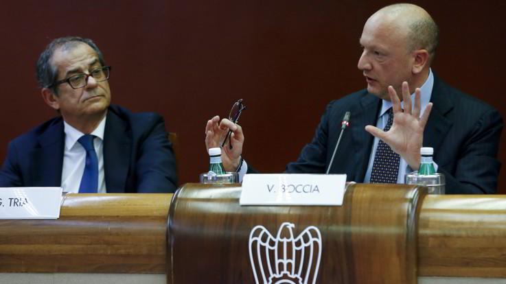 """Confindustria: """"Rischio per tasse, non toccare pensioni"""". Boccia apre su deficit"""