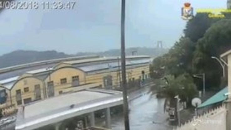 Ponte Morandi, diffuso un nuovo video del crollo