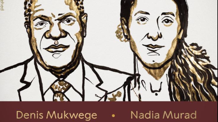 Nobel per la pace a Denis Mukwege e Nadia Murad, attivisti contro la violenza sessuale come arma di guerra