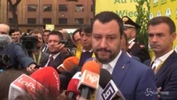 """Salvini: """"370mila in pensione, sono contento"""""""