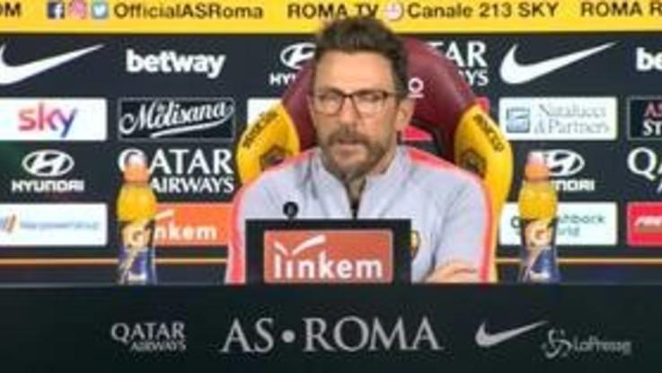 """Roma, Di Francesco: """"Occhio all'Empoli. Kolarov? Non riusciva a camminare..."""""""